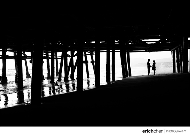 Santa Monica Pier Engagement Photos Connie and Ryan
